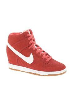 Nike Dunk Sky High Red Wedge Trainers