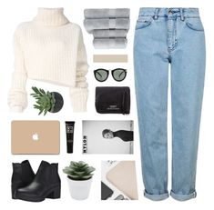 """//creme de la creme//"" by lion-smile ❤ liked on Polyvore featuring Ann Demeulemeester, Steve Madden, Topshop, Karen Walker, Acne Studios, Threshold, Christy, 3M, M&Co and 3ina"