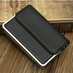 Premium Leather Fashion Business ID Credit Card Box Pocket Wallet Case Holder CN Leather Fashion, Leather Men, Black Leather, Best Mens Fashion, Men's Fashion, Fashion Styles, Fashion Beauty, Name Card Holder, Stylish Mens Outfits