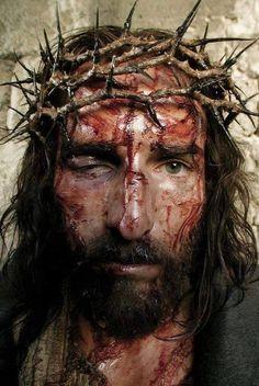 """The Holy Face of Jesus from """"Passion of the Christ"""" Jesus Face, My Jesus, King Jesus, La Passion Du Christ, Catholic Doctrine, Catholic Religion, Catholic Prayers, Eucharist, Jesus Pictures"""