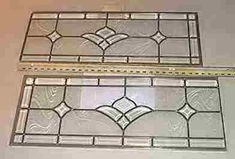 stained glass plans for transom | Custom Stained Glass - Two Section Interior Door Transom