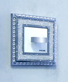 02dad6b16fc Your rooms will sparkle with these crystal encrusted switch plates by Fede.  Made from brass