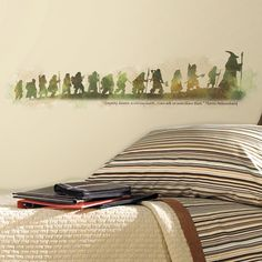 "I want to order this!!!! a wall decal from The Hobbit. underneath it says, ""Loyalty, honor, a willing heart . . . I can ask no more than that."""