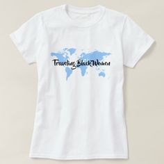 Upgrade your style with Travel t-shirts from Zazzle! Search for your new favorite t-shirt today! Beautiful Black Women, Shirt Style, Shirt Designs, Traveling, Woman, Tees, Mens Tops, T Shirt, Fashion