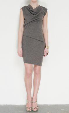 Helmut Lang grey dress