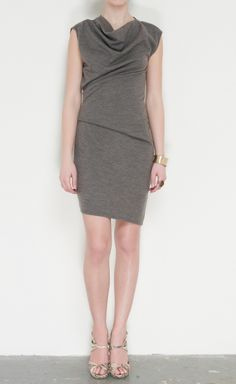 Helmut Lang grey dress