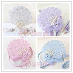 4 Colors Lolita Pearl Seashell Mermaid Crossbody Bag SP152285 - SpreePicky  - 1