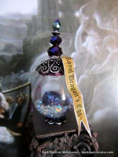 Royal Dragon's Egg Potion Bottle dollhouse miniature in one inch scale ooak