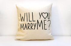 Veux-tu m'épouser? -Citer les coussins/couverture - cadeau pour les citations d'amour jeune mariée - mariée oreiller-