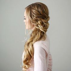 30 Awesome Braided Half Up Half Down Hairstyles for Your Prom 30 Awesome Braided Half Up Half Down Hairstyles for Your PromBraids have been a part of our culture for ages now; they manage to make anybod Half Braided Hairstyles, Prom Hairstyles For Long Hair, Side Swept Hairstyles, Party Hairstyles, Down Hairstyles, Wedding Hairstyles, Hairstyle Ideas, Bridesmaid Side Hairstyles, Simple Hairstyles