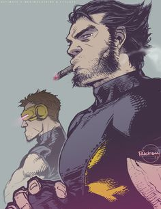 Ultimate X-Men: Wolverine and Cyclops by *Ricken-Art on deviantART