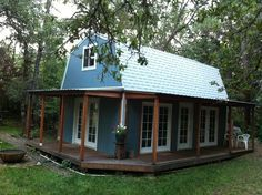 1 Porch Tuff Shed Cabin Floor Plans - Tr 1600 Upstairs By Tuff Shed Storage Buildings Shed To Tiny House, Tiny House Cabin, House With Porch, Tiny House Design, Small House Plans, Tiny Houses, Tuff Shed Cabin, Log Houses, Cabin Design