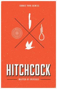 Hitchcock minimalist movie poster