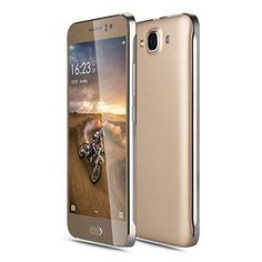 JUNING Unlocked GSM Cell Phones 5 Inch Anroid 5.1 Dual SIM Quad Core ROM 4GB 5.0MP Cameras Gold