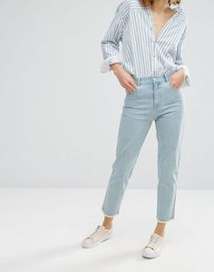 Vale High Rise Fray Hem Cropped Jean