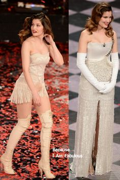 Fabulously Spotted: Laetitia Casta Wearing Givenchy Couture - Festival di Sanremo 2014 Opening Night - http://www.becauseiamfabulous.com/2014/02/laetitia-casta-wearing-givenchy-couture-festival-di-sanremo-2014-opening-night/