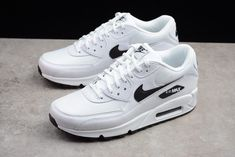 Nike Shoes OFF! Wmns Air Max 90 White Black www. Sneaker Outfits, Nike Outfits, Converse Sneaker, Puma Sneaker, Air Max 90 Black, Nike Air Max White, Nike Air Max For Women, Nike Air Max 90s, Women Nike