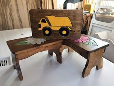 Eugenie's Woodworking Blog: Little benches in the Daisy or Truck model.