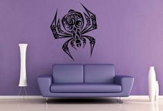 Tribal Spider Wall Decal
