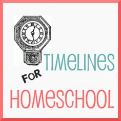 Timelines for homeschool history -- notebook timelines, wall charts, and one page timelines.