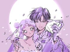 Princess Serenity & Prince Endymion from Sailor Moon Sailor Moon Fond, Arte Sailor Moon, Sailor Moon Usagi, Sailor Uranus, Sailor Moon Crystal, Sailor Mars, Sailor Moon Birthday, Sailor Moon Tumblr, Manga Anime