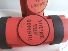 """❤ Valentine's Day Gift Idea  : """" You're The BOMB! """" Snacks  ❤ #DIY #Tutorial #ValentinesDay #GiftIdea #ValentinesDayGiftIdea #Gift #Present #Yourethebomb #thebomb #bomb #candies #sweet #trickortreat #treats #lovely #sanvalentino #idearegalo #howto #ideas #idea #vday #valentine #amore #seiunabomba #dolce #dolcetti #tronky #smarties #cake #biscuits #VdayDIY #ValentinesDayDIY #DIYproject #idea #Ideasforvalentinesday #regalo #regali #dolce  #lollipop #lollipops #valentinesdaycard #card #cards"""