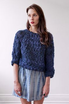 Image of kingston thick & thin merino sweater (shown in Carnival pastels)