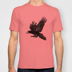The Rook T-shirt by Robert Lee - $18.00 #art #rook #raven #crow #iphone #ipod #ipad #galaxy #s4 #s5 #s6 #case #cover #skin #mug #bag #pillow #stationery #apple #mac #laptop #sweat #shirt #tank #top #clothing #clothes #hoody #kids #children #boys #girls #men #women #ladies #lines #love  #light #home #office #style #fashion #accessory #for #her #him #gift #want #need #love #print #canvas #framed #Robert #S. #Lee