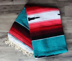 Turquoise Coral Aztec Red FULL size by TribeandTrueStudio on Etsy