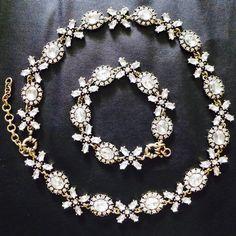 NEW Crystal Collar Statement Necklace Bracelet Wedding Bridal Bridesmaid BARGAIN #JewelStorie #Cluster