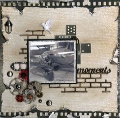 Memories layout by preciousmoments Heritage Scrapbooking, Digital Scrapbooking, Scrapbooking Ideas, Scrapbook Page Layouts, Scrapbook Cards, Vacation Scrapbook, Vintage Scrapbook, Layout Inspiration, Altered Art