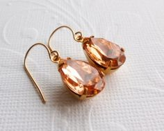 Peach Pink Earrings by Aqsa