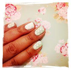 Mint and white polka dot nails! Polka Dot Nails, Polka Dots, Mint, Polka Dot, Dots, Peppermint
