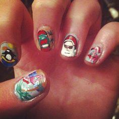 Tropical Christmas Nails