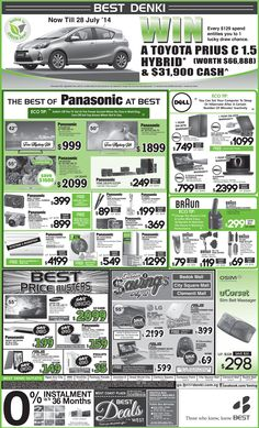 Straits Time Ad - 18 July 2014  Check out the special promotion from Panasonic, Dell & Braun Click here to view or zoom : http://go.bestdenki.com.sg/best-adverts/press-advert-18-july-2014