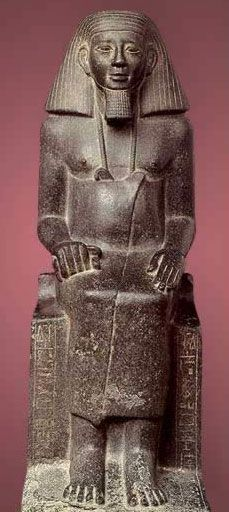 Statue of the Father of the Vizier Ankhu The Courtyard of the Cachette in the Temple of Amun at Karnak