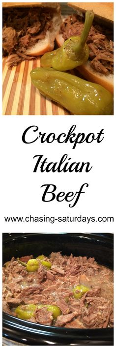 Crock Pot Italian Beef Sandwiches, Chasing Saturdays, Beef, Lunch, Dinner, Easy