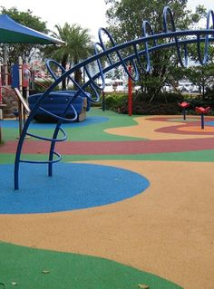 Paul this better than wood chippings, Rubber floor for kids play areas