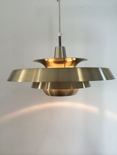 Buy Midcenturt brass pendant by Jo Hammerborg  by deerstedt. Explore more products on http://deerstedt.etsy.com