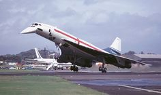 Concorde G-AXDN at the Air Show in 1974