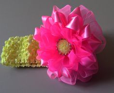 Flor flocada de Fitas de cetim e organza Passo a Passo -Flower tapes