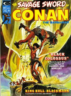 the cover to The Savage Sword Of Conan (1974) #2 by Neal Adams