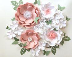 Paper flower backdrop WILD ROSE/Paper flower by SydneyPaperFlowers