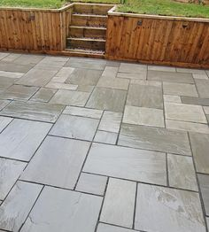 Our Kandla Grey Sandstone is the perfect Indian Stone Paving for any traditional patio. Concrete Stone, Concrete Blocks, Concrete Patio, Patio Deck Designs, Patio Design, Garden Design, Stone Walkway, Paving Stones, Terrace Tiles