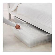 IKEA - GIMSE, Contenitore sottoletto, , Ti permette di sfruttare lo spazio sotto il letto.Il coperchio impedisce alla polvere di entrare nel contenitore.