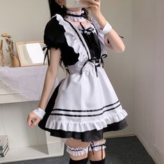 Maid Outfit Cosplay, Maid Outfit Anime, Girl Outfits, Cute Outfits, Fashion Outfits, Maid Dress, Kawaii Clothes, Alternative Outfits, Lolita Dress
