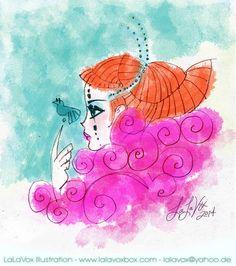© LaLaVox - www.lalavoxbox.com - digitally colored pencil sketch
