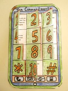 Cell Phone craft for the 10 Commandments Bible Story Crafts, Bible School Crafts, Bible Crafts For Kids, Preschool Bible, Sunday School Kids, Sunday School Lessons, Sunday School Crafts, Kids Church Lessons, Bible Lessons For Kids