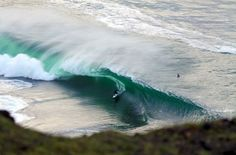 Pumping Surf In County Clare Ireland - It's about a foot deep in there!