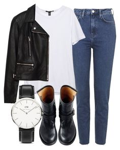 """""""Untitled #4796"""" by laurenmboot ❤ liked on Polyvore featuring Topshop, Zara, Fiorentini + Baker and Daniel Wellington"""